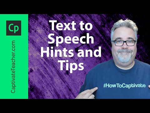 Adobe Captivate - Text to Speech Hints and Tips