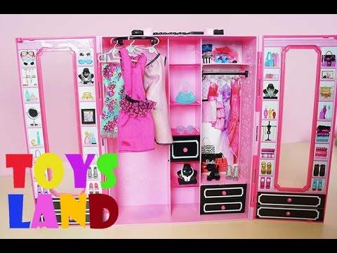1bc0bd587ecc Η στυλάτη ντουλάπα της Barbie - YouTube
