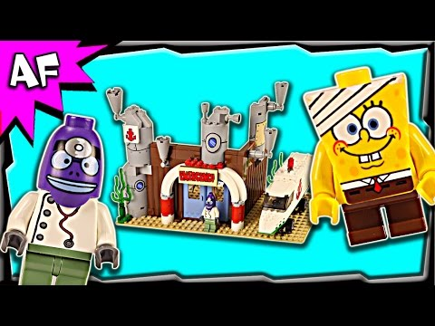 Lego SpongeBob EMERGENCY ROOM 3832 Stop Motion Build Review