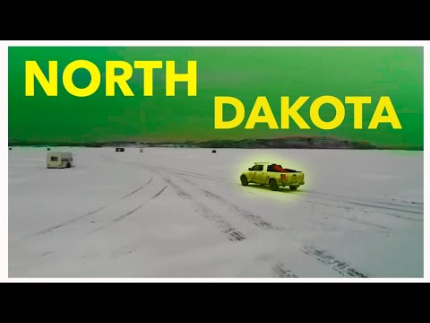 ICE FISHING Lake Sakakawea - North Dakota