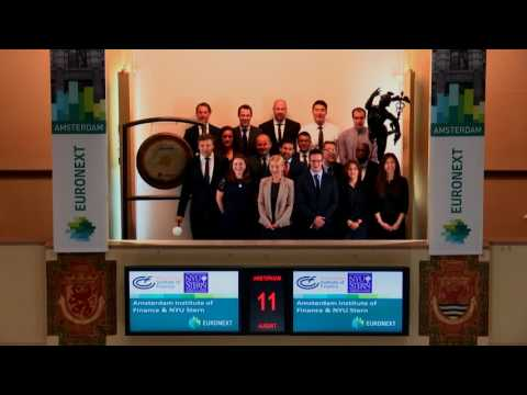 Amsterdam Institute of Finance visits Beursplein 5