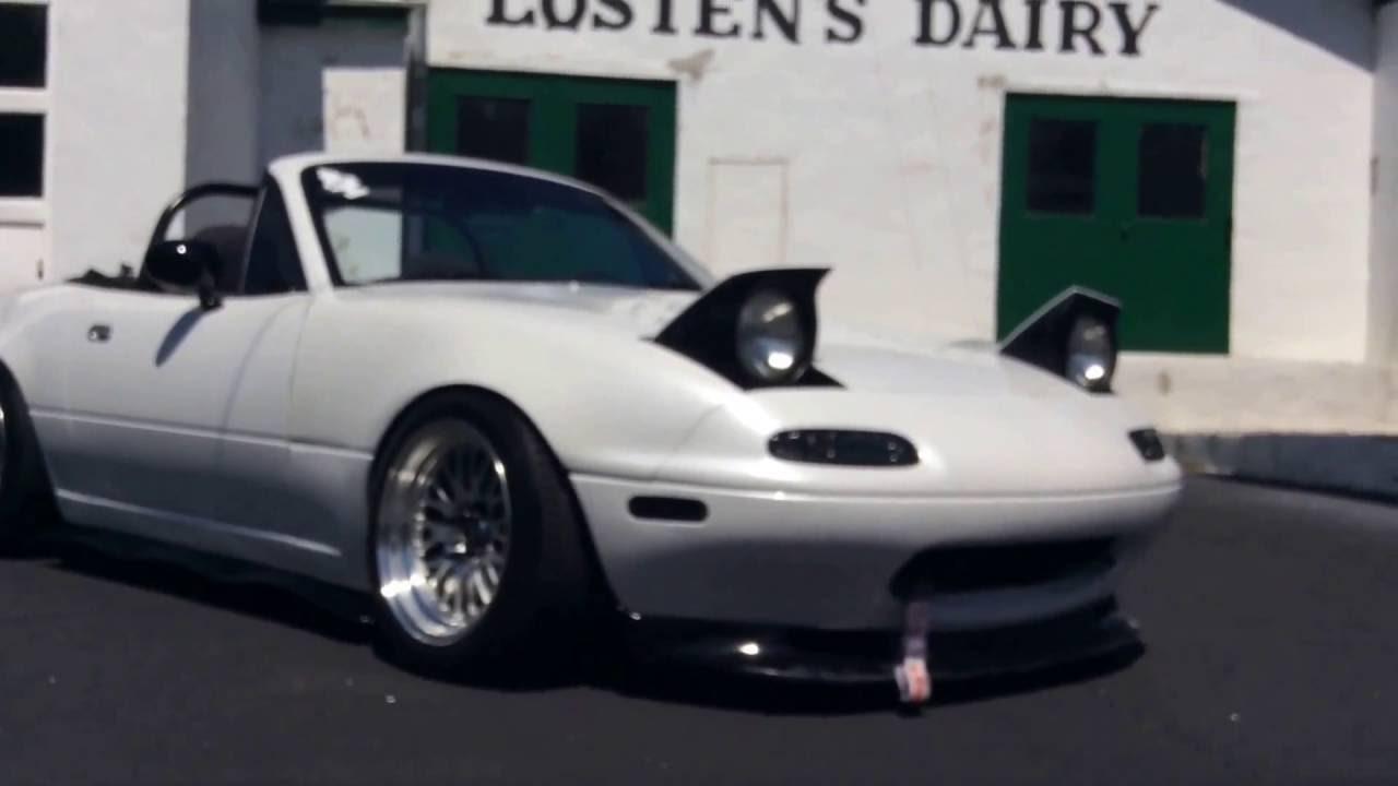 1990 SLAMMED PEARL WHITE MIATA MX-5 EDIT - YouTube