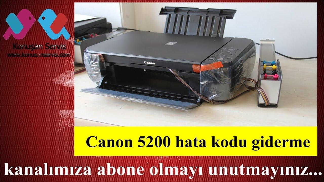 Canon mp480 printer error 5200