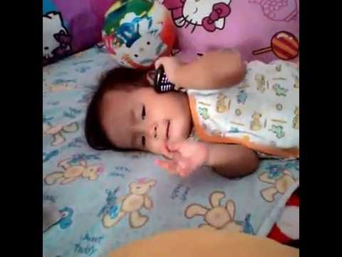 Cute Baby Is Cool To Call (11 Month).. Funny Video