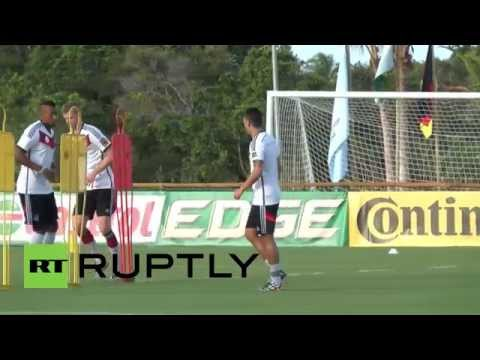 Brazil: Germany practice kick-ups ahead of Ghana game
