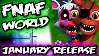 FNAF WORLD *NEW* RELEASE DATE! | January FNAF Release! | FNAF WORLD GAMEPLAY TRAILER 2