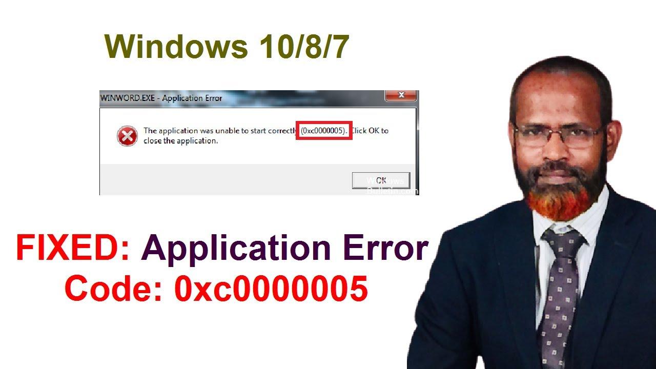 Download how to fix error code 0xc0000005 in windows 10 computer 2020