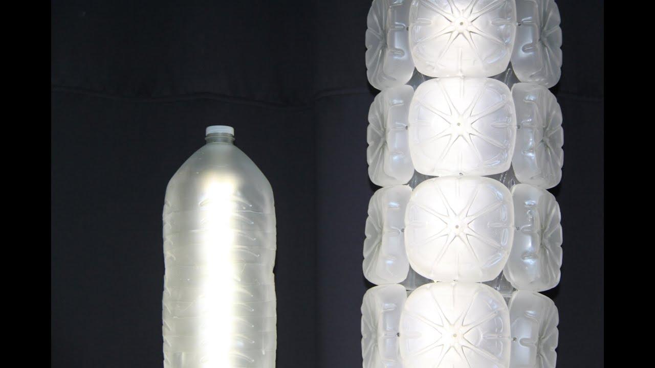 Lmpara realizada con garrafas de plstico recicladas
