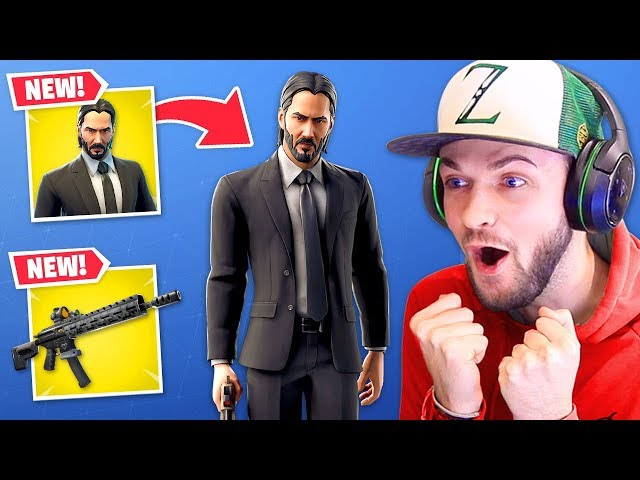 *NEW* John Wick SKIN + Tactical Assault Rifle! (OVERPOWERED)