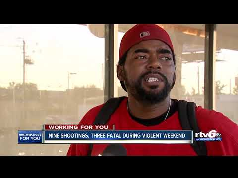 9 shot, 3 fatally, over violent weekend in Indianapolis