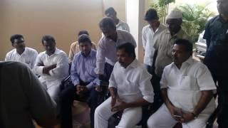 Chaman Saheb Address Media In Zp House In 04/09/2016