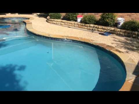 Bad swimming pool plaster job. ASP of Dallas