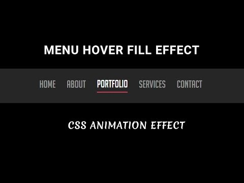 CSS menu hover fill effect with border | Cool Menu hover Effect using html and css