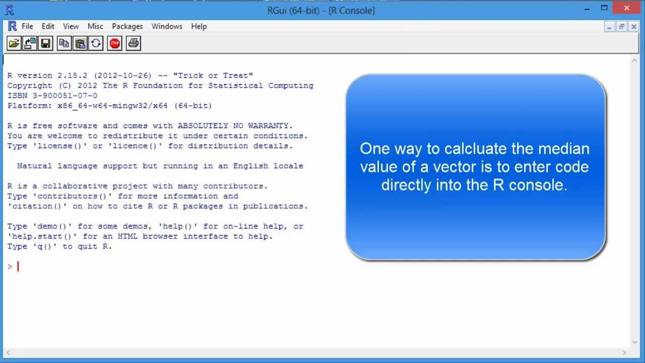Find Median Value With R Programming Language  Statistics Tutorial