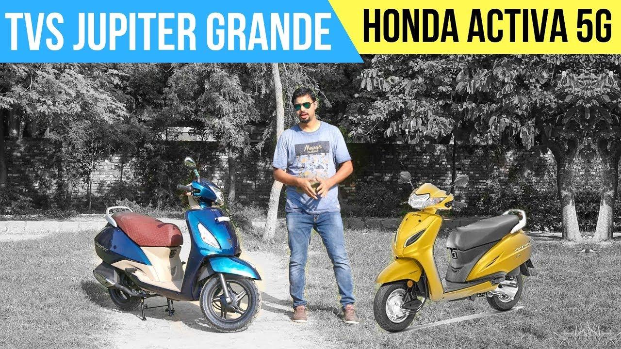 2018 Tvs Jupiter Grande 5g Details Comparison With Honda Activa 5g