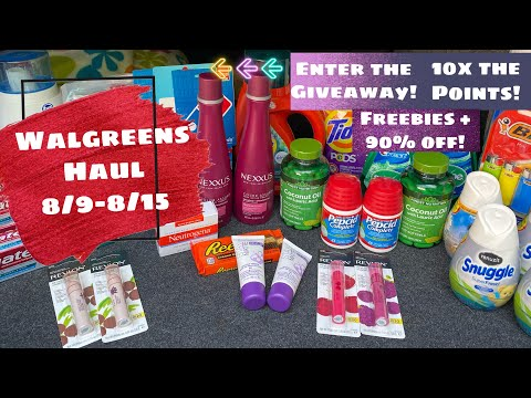 WALGREENS HAUL 8/9-8/15 EASY DEALS | 10X THE POINTS | FREEBIES + A GIVEAWAY!
