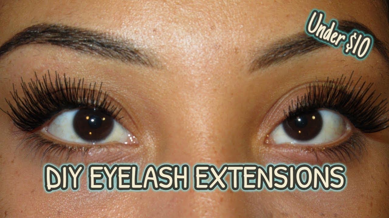 Diy Inexpensive Eyelash Extensions Youtube