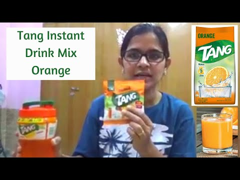 TANG ORANGE INSTANT DRINK MIX REVIEW IN HINDI