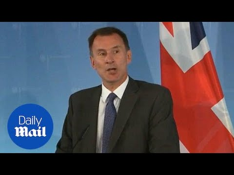 Foreign Secretary Jeremy Hunt warns of accidental 'no deal' Brexit