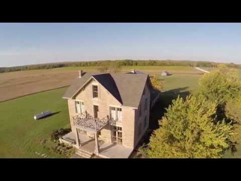 The historic Warren Stone Mansion in the beautiful Flint Hills of Kansas