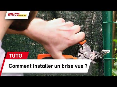 Comment installer un brise vue ? (bricomarché) - YouTube
