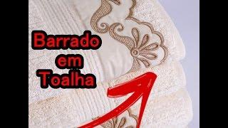 Passo a passo/Como bordar barra de toalha – Maquina caseira singer