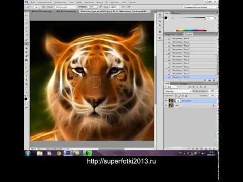 Обработка фото с помощью фильтра Redfield Fractalius