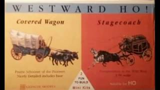 Westward Ho! Covered  Wagon Model Kit by Glencoe Models build video