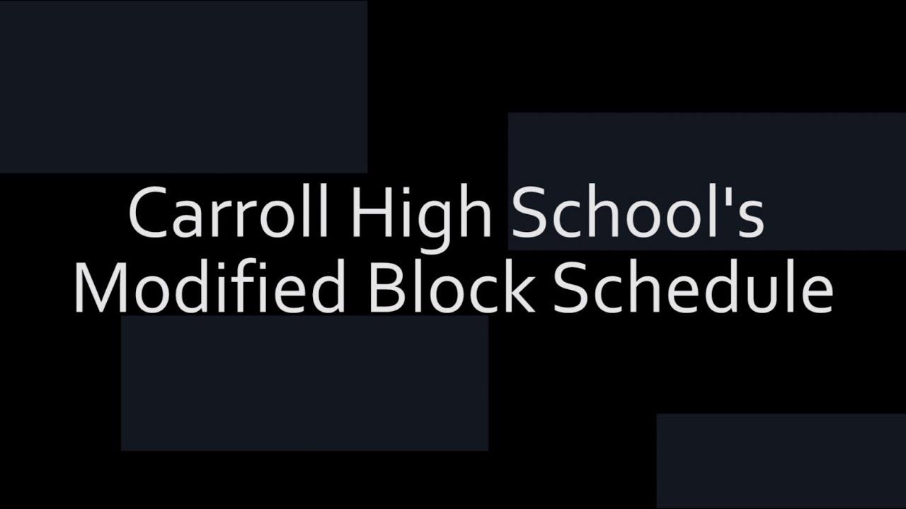 chs modified block schedule video chs modified block schedule video