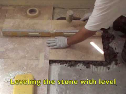 Installing A Stone Floor Using A Float Method Youtube