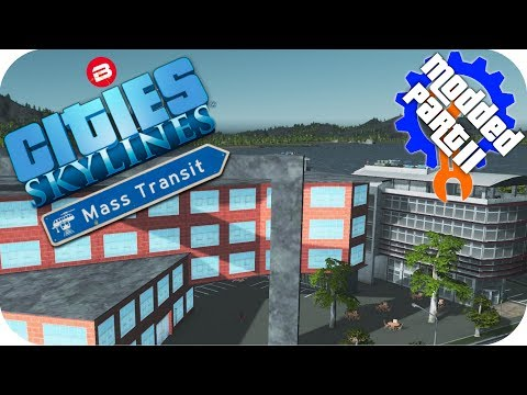 Cities Skylines Gameplay: UNIVERSITEA TRANSIT CAMPUS! Cities: Skylines Mods MASS TRANSIT DLC Part 11