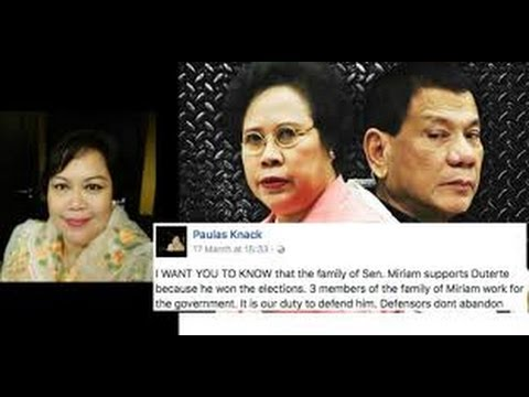 "Younger sister of Miriam Defensor-Santiago defends PRRD: ""MEDIA IS SPREADING DISINFORMATION"""