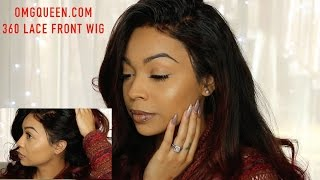 OMGQueen.com | Affordable 360 Lace Frontal Wig | & How I lay my Wig
