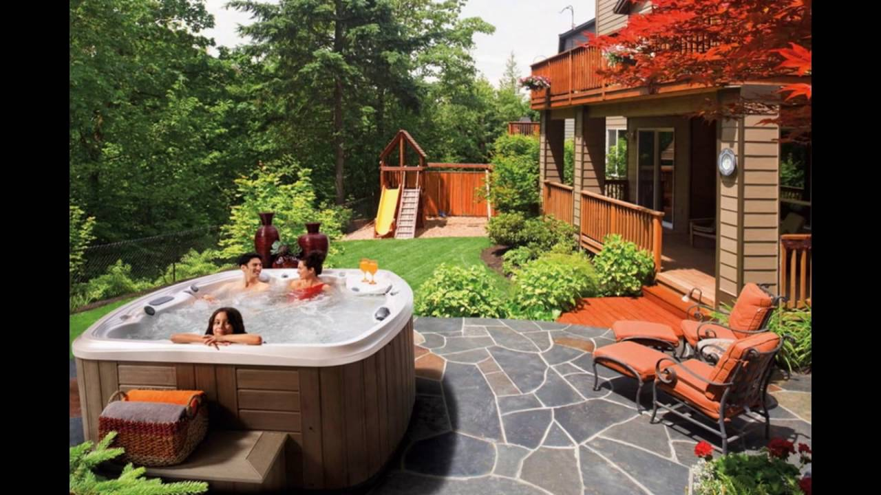 Jacuzzi Pool In Ground Above Ground Pool And Hot Tub Deck Ideas