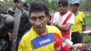 Desalojo en San Marcos Tundayme por Ecsa, policia, gobierno Ecuador