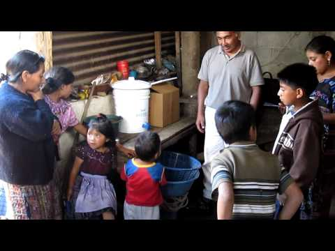 Water Filter given to a family in Patzicia 2 Travel Video