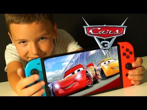 ТАЧКИ 3 ИГРА Прохождение с ПАПОЙ на Nintendo Switch Мультики про Машинки Видео для Детей