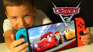 🚗👬 ТАЧКИ 3 ИГРА Прохождение с ПАПОЙ на Nintendo Switch Мультики про Машинки Видео для Детей