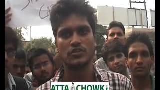 MAHAMAYA TECHNICAL UNIVERSITY - STUDENT PROTESTED IN NOIDA DEMNANING RE-EXAM