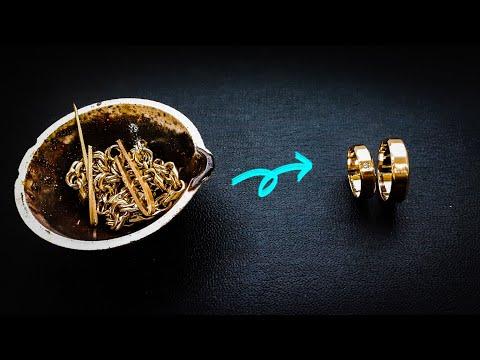 Обручальные кольца с бриллиантом.Процесс изготовления#MatsonJewellery