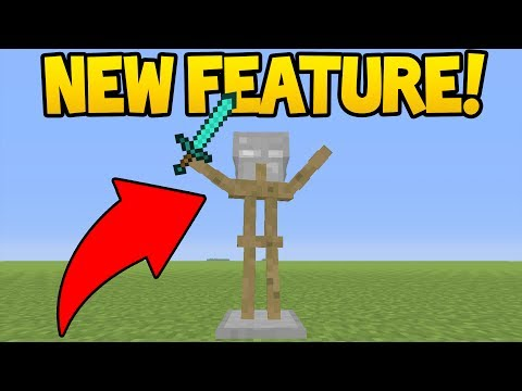 NEW ARMOUR STAND POSES! (Minecraft Better Together Update)