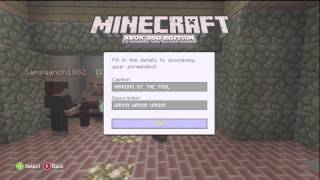 Minecraft Xbox 360: Just the Tip!!! No. 5- Taking a Screenshot