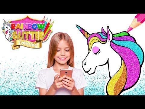 Rainbow Glitter Coloring Book - Unicorn Artist - Apps on ...