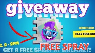 FORTNITE WALMART EXCLUSIVE SPRAY GIVEAWAY!!!