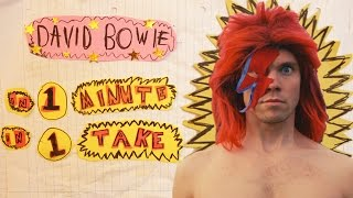 David Bowie in one minute, in one take