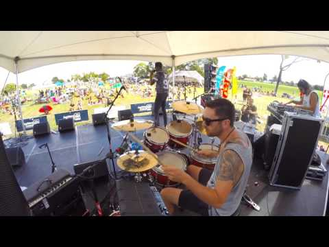 Raiza Biza - New Kings (Live Drum Cam) at Music in Parks Auckland 2016