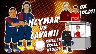 ⚽NEYMAR vs CAVANI PENALTY!⚽Klopp unhappy with OX!⚽Muller trolls NEUER!⚽
