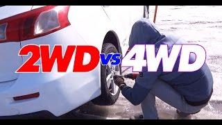 2WD vs 4WD Mitsubishi Lancer X vs Subaru Forester S STI F5