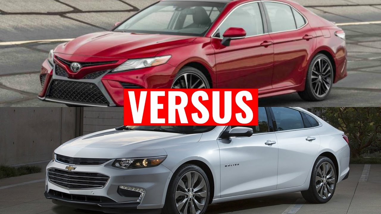 2018 Camry vs Chevrolet Malibu - YouTube
