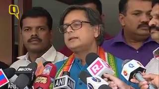 The quint: shashi tharoor gets into a verbal spat with republic reporter